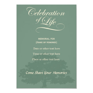 Herdenkings Viering van Eiken Wijze invitatation Kaart