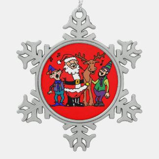 Herenkapper Tin Sneeuwvlok Ornament