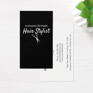 Herenkapper - Zwart-witte Schaar Visitekaartjes