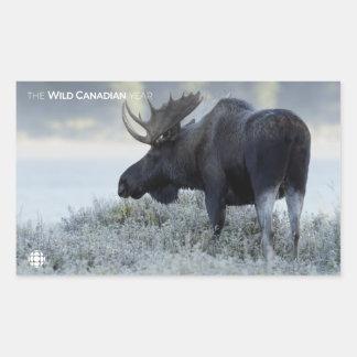 Herfst - Amerikaanse elanden Rechthoekige Sticker