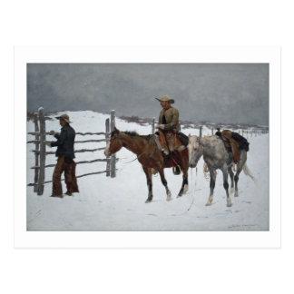 Herfst van de Cowboy door Frederic Remington Briefkaart