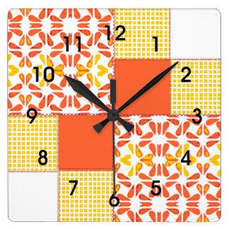 Herfstkleuren van het Patroon van het Blok van het Vierkante Klok