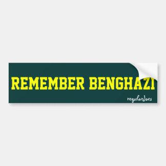 Herinner Benghazi bumpersticker door regularJoes