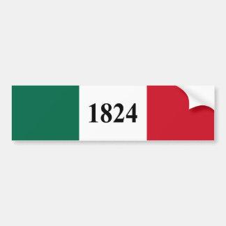 Herinner de Alamo Texas Vlag van de Staat Bumpersticker