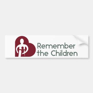 Herinner de Sticker van de Bumper van Kinderen