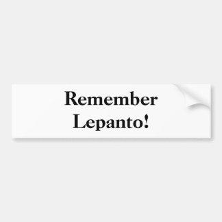 Herinner Lepanto! Bumpersticker