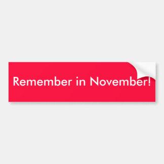 Herinner me in November! - (De rode) Sticker van d