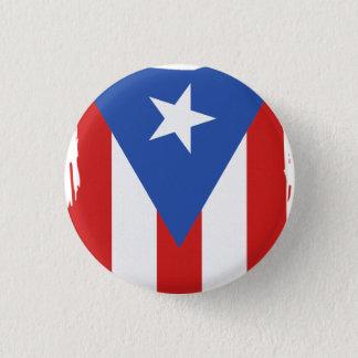Herinnering: De Vlag van Puerto Rico: Speld Ronde Button 3,2 Cm
