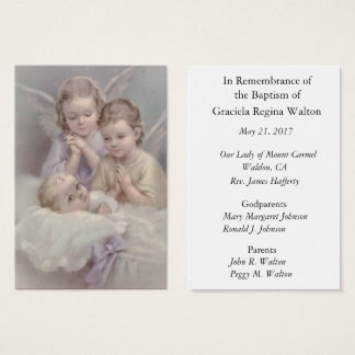 Herinnering van de Herinnering van het baby Visitekaartjes