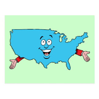Herinnering van de Reis van de V.S. Verenigde Briefkaart