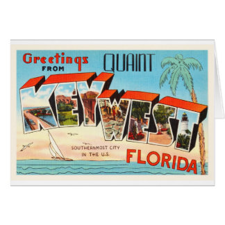 Herinnering van de Reis van Key West Florida FL de Briefkaarten 0