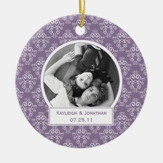 Herinnering van het Huwelijk van de Harten van het Rond Keramisch Ornament