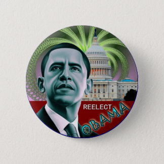 Herkies Obama Ronde Button 5,7 Cm