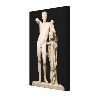 Hermes en het Baby Dionysus Canvas Print