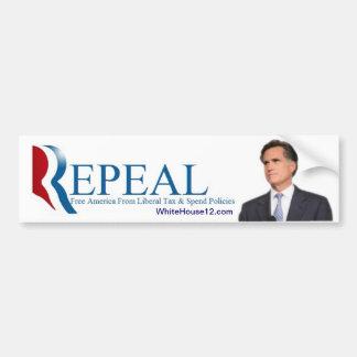 Herroeping:  De slogan van de Campagne van 2012 Re Bumpersticker