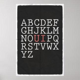 Herschik het Alfabet Poster