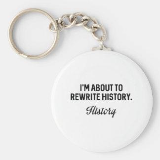Herschrijf Geschiedenis Basic Ronde Button Sleutelhanger