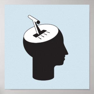 hersenen wijze - het denken verschuivingshefboom poster