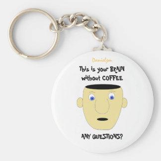 HERSENEN ZONDER COFFE Keychain Sleutelhanger