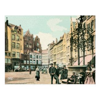 hersteld de stadscentrum van de jaren briefkaart