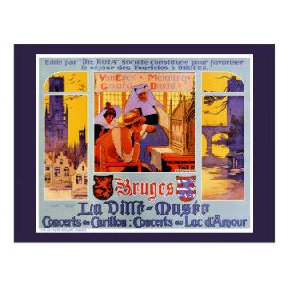 Herstelde Poster van de Reis van Brugge het Briefkaart