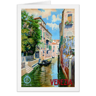 Herstelde Poster van de Reis van Italië Venetië Wenskaart