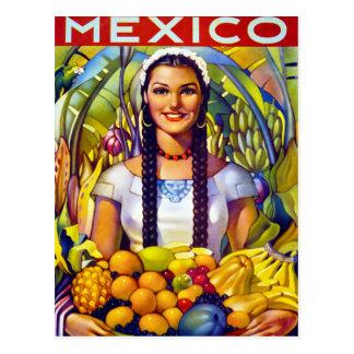 Herstelde Poster van de Reis van Mexico het Briefkaart