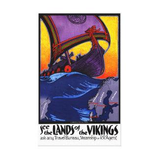 Herstelde Poster van de Reis van Scandinavië het Canvas Afdrukken