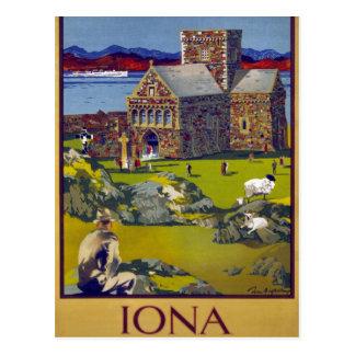 Herstelde Poster van de Reis van Schotland van Briefkaart