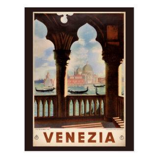 Herstelde Poster van de Reis van Venetië Venezia Briefkaart