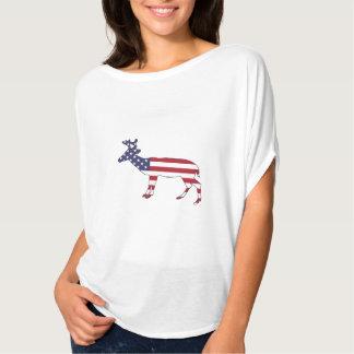 "Herten ""Amerikaanse Vlag "" T Shirt"
