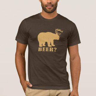 Herten draag = Bier? Dronken T-shirt Redneck