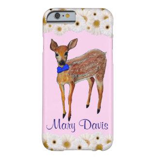 Herten Fawn met het Madeliefjes Gepersonaliseerde Barely There iPhone 6 Hoesje