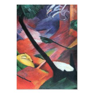 Herten in Bos II door Franz Marc; Reh im Walde 12,7x17,8 Uitnodiging Kaart
