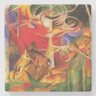 Herten in het Bos door Franz Marc Stenen Onderzetter