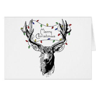 Herten met de Lichten van Kerstmis Briefkaarten 0
