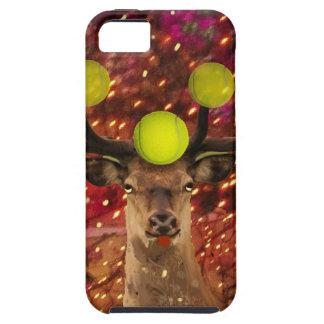 Herten met tennisballen in een glanzend bos. tough iPhone 5 hoesje