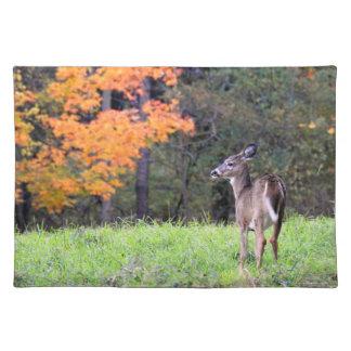 Herten op het Gebied op de Herfst Dag II Placemat