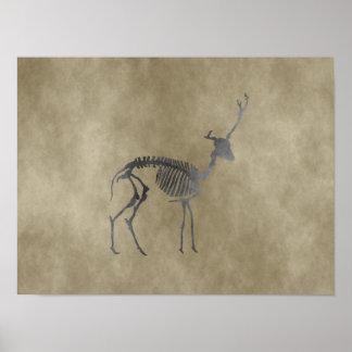 herten skelet poster