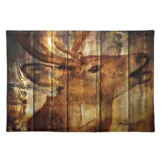 Herten van de schuur houten whitetail van het placemat