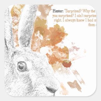 Hester, Hazen Daemon van Zijn Donkere Materialen Vierkante Sticker