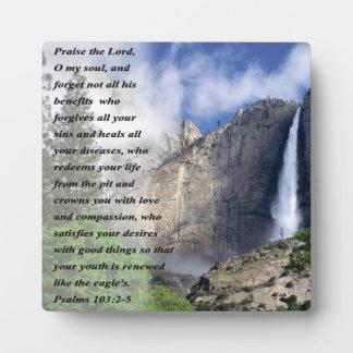Het 103:2 van psalmen - 5 fotoplaat