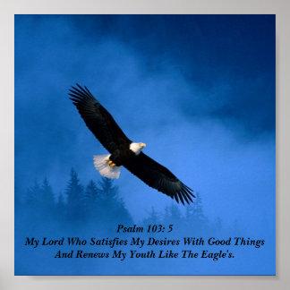 Het 103:5 van de psalm poster