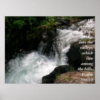 Het 104:10posters van de psalm poster