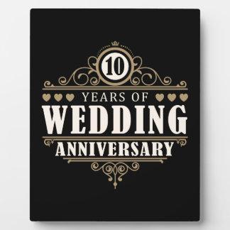 het 10de Jubileum van het Huwelijk Foto Platen