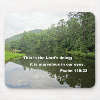 Het 118:23 van de psalm muismat
