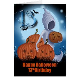 het 13de Spook en de Pompoenen van Halloween van Briefkaarten 0