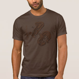het 18de BRUINE Aantal van Grunge van de T-shirt