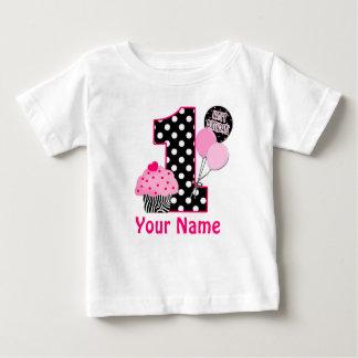 het 1st Gepersonaliseerde Overhemd van Cupcake van Baby T Shirts