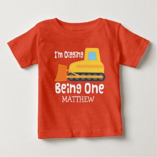 het 1st Graven die van de Verjaardag Één Baby T Shirts